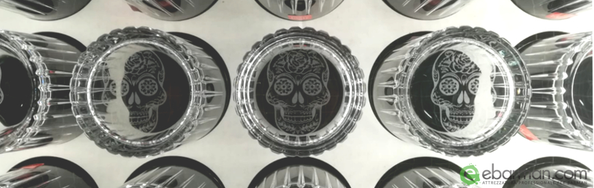 Mexican Skull Glass