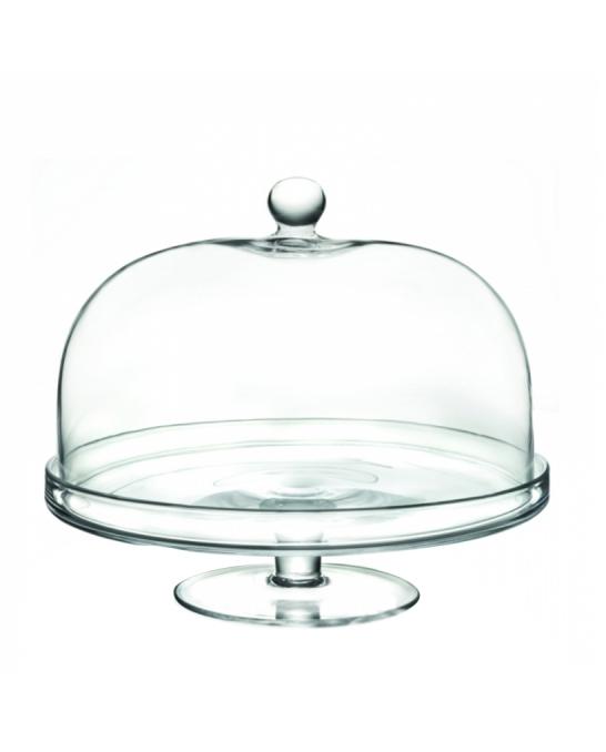 Decorazione Guarnizione ,Alzata Porta dolci con cupola rotonda RCR in cristallo