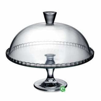 Decorazione Guarnizione ,Alzata portadolci o torte con campana in vetro