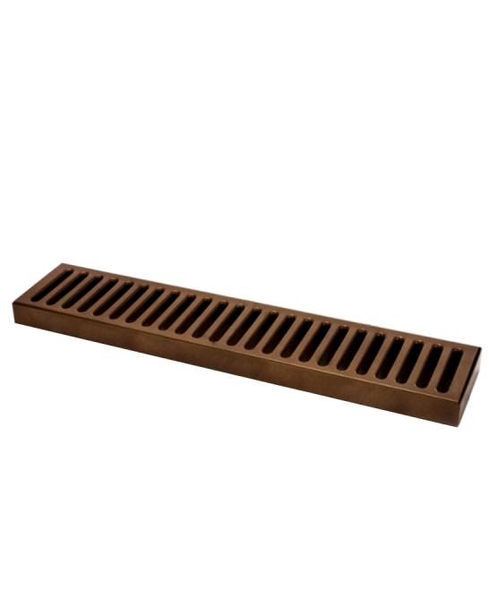 Bar Mat e Tappetini ,Bar mat in acciaio inox 18/9 Bronzo Antico 50x10,5 cm