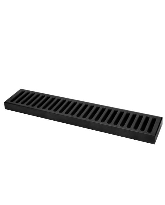 Bar Mat e Tappetini ,Bar mat in acciaio inox 18/9 Nero Lucido 50x10,5 cm