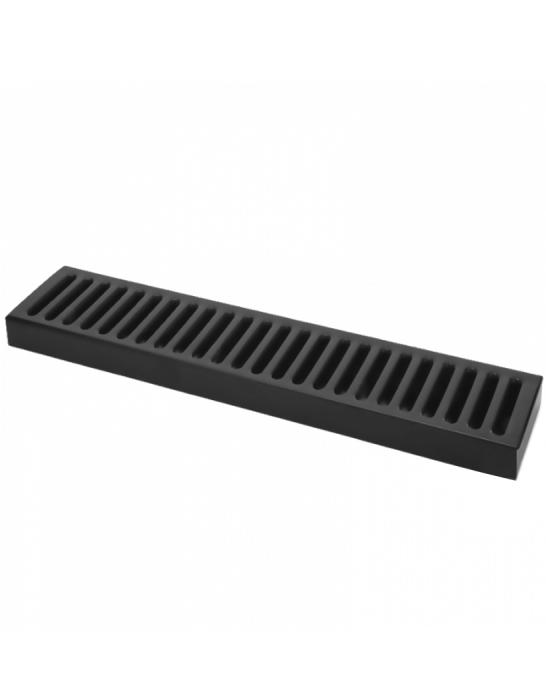 Bar Mat e Tappetini ,Bar mat in acciaio inox 18/9 Nero Opaco 50x10,5 cm