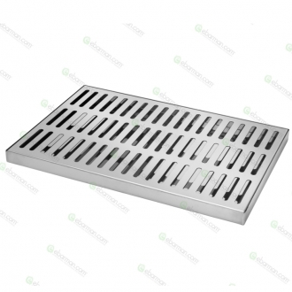 Bar Mat e Tappetini ,Bar mat in acciaio inox ebarman MAC4 Large 45x30 cm