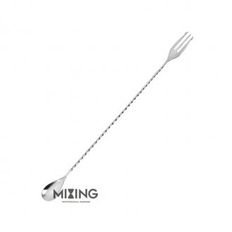 Bar Spoon,Bar Spoon Mixing Trident Acciaio 30 cm