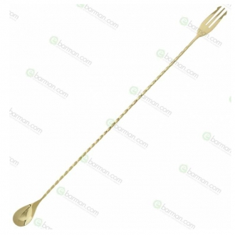 Bar Spoon ,Bar spoon Trident Oro 45 cm