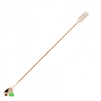 Bar Spoon,Bar spoon Trident Rose Gold 35 cm