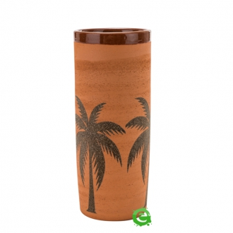 Mug ,Bicchiere Mug in Terracotta grezza con Palme 40 cl
