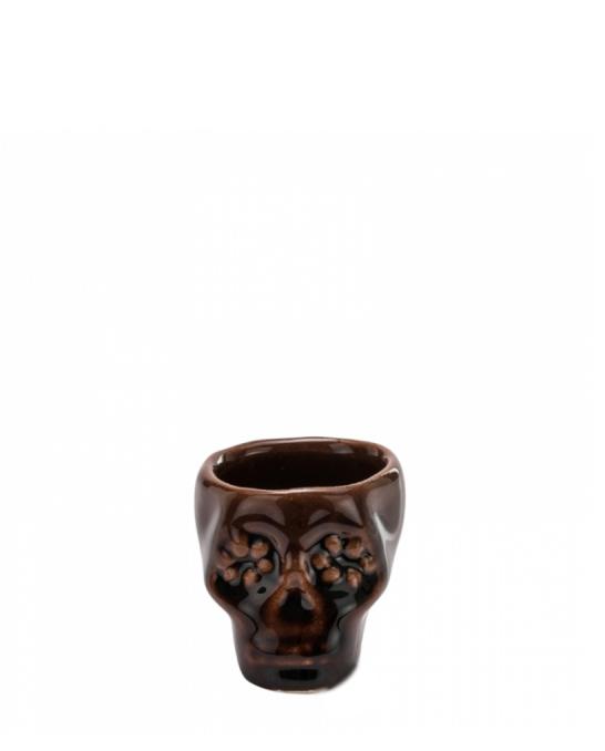 Bicchieri da Cocktail ,Bicchiere shot teschio colore marrone chiaro in terracotta 3 cl