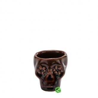 Bicchieri da Cocktail ,Bicchiere shot teschio colore marrone in terracotta 3 cl