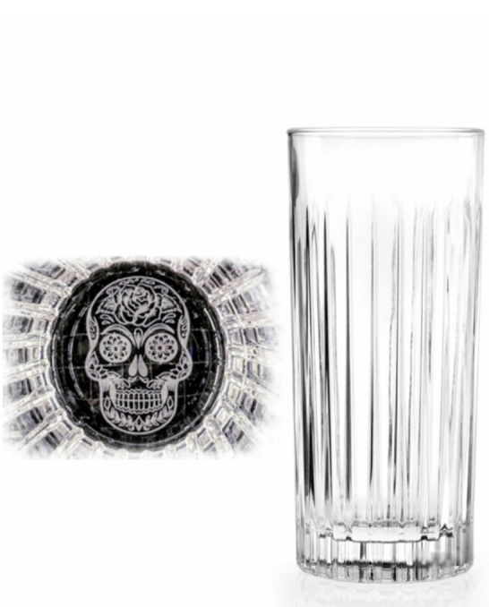 Bicchieri RCR ,Bicchiere Skull Mexican Timeless 44 cl 6 pezzi