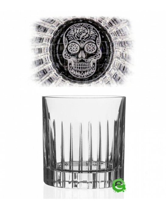 Bicchieri RCR ,Bicchiere Skull Mexican Timeless RCR 36 cl 6pz