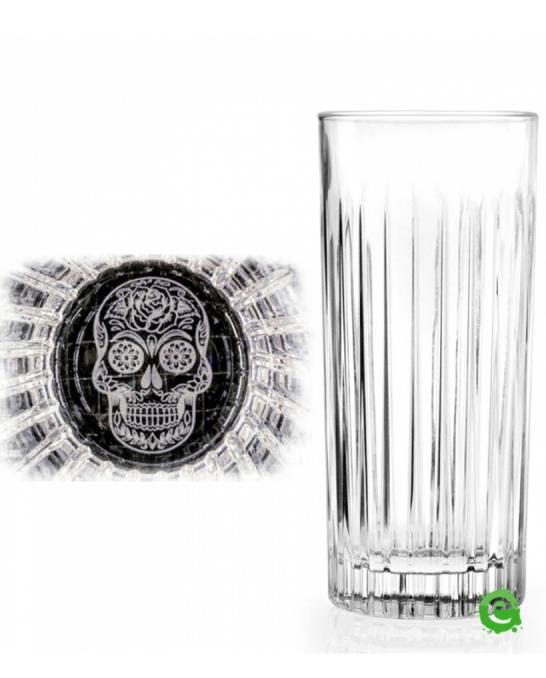 Bicchieri RCR ,Bicchiere Skull Mexican Timeless RCR 44 cl 6pz