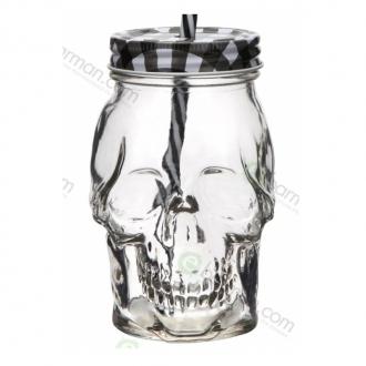 Bicchieri da Cocktail ,Bicchiere Teschio in vetro 45 cl