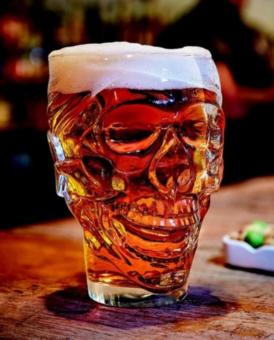 Bicchieri Birra ,Boccale Birra Skull 90 cl 1 pezzo