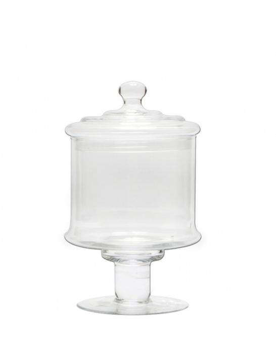 Decorazione Guarnizione ,Bomboniera in vetro 11,5x28 cm