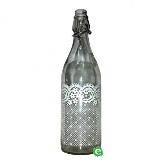 Bitters Bottle,Bottiglia Decorata in vetro con tappo 1 lt