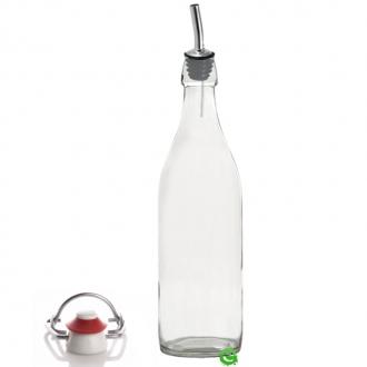 Bitters Bottle ,Bottiglia in vetro per sciroppi e succhi di frutta con metal pour 1 lt