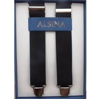 Abbigliamento per Barman ,Bretelle colore nero clip argento