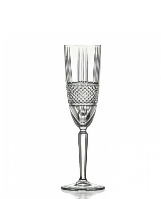 Bicchieri RCR ,Calice Brillante Flute RCR 18.5 cl 6 pezzi