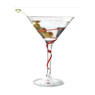 Ultimi in Stock ,Calice Cocktail Martini Spyro Rosso 21 cl 6pz