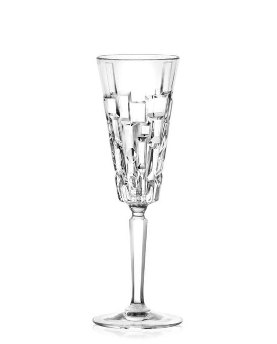 Bicchieri RCR ,Calice Flute Etna 19 cl 6 pezzi