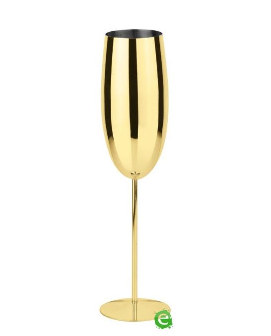 Bicchieri da Cocktail ,Calice Flute in acciaio inox oro 27 cl 1pz