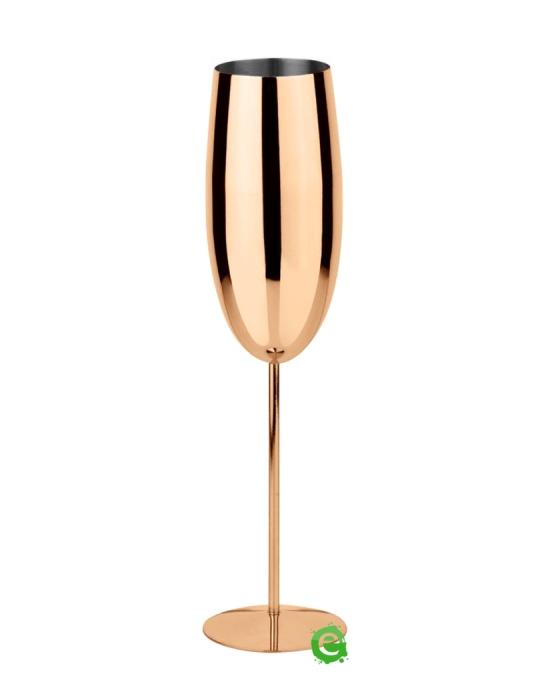 Bicchieri da Cocktail ,Calice Flute in acciaio inox rame 27 cl 1pz