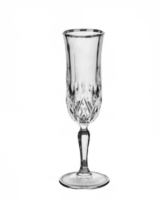 Bicchieri RCR ,Calice Opera RCR Flute Platinum 13 cl 6 pezzi