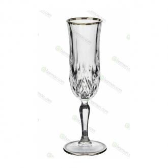 Bicchieri RCR,Calice Opera RCR Flute Platinum 13 cl 6pz