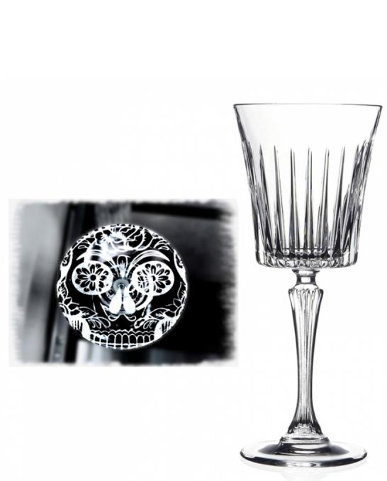 Bicchieri RCR ,Calice Skull Mexican Timeless RCR Acqua 29,8 cl 6 pezzi