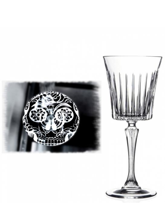 Bicchieri RCR ,Calice Skull Mexican Timeless RCR Vino 23 cl 6 pezzi