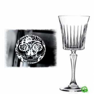 Bicchieri RCR,Calice Skull Mexican Timeless RCR Vino 23 cl 6pz