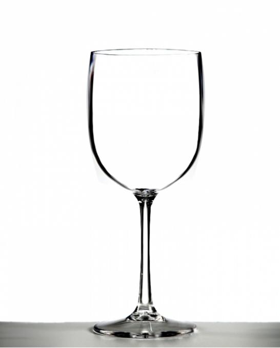 Bicchieri in Plastica ,Calice vino in policarbonato trasparente 48 cl 4pz