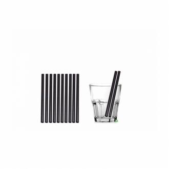 Cannucce e Tovaglioli ,Cannucce Biodegradabili e Compostabili dritte colore Nero 15cmConf.500 pz