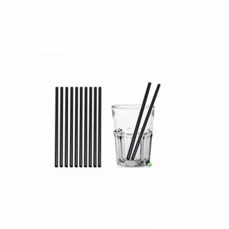 Cannucce e Tovaglioli ,Cannucce Biodegradabili e Compostabili dritte colore Nero 21cm Conf.500 pz