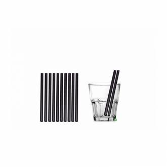 Cannucce e Tovaglioli ,Cannucce Biodegradabilie Compostabili dritte colore Nero 16cm Conf.500 pz