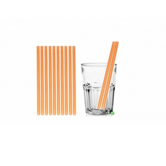 Cannucce e Tovaglioli ,Cannucce dritte colore Arancio 21cm Conf.1000 pz
