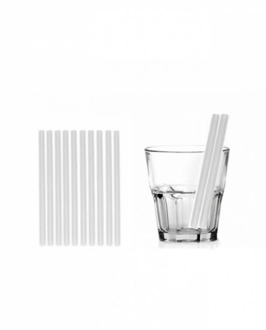 Cannucce e Tovaglioli ,Cannucce dritte colore Bianco 13,5cm Conf.1000 pz