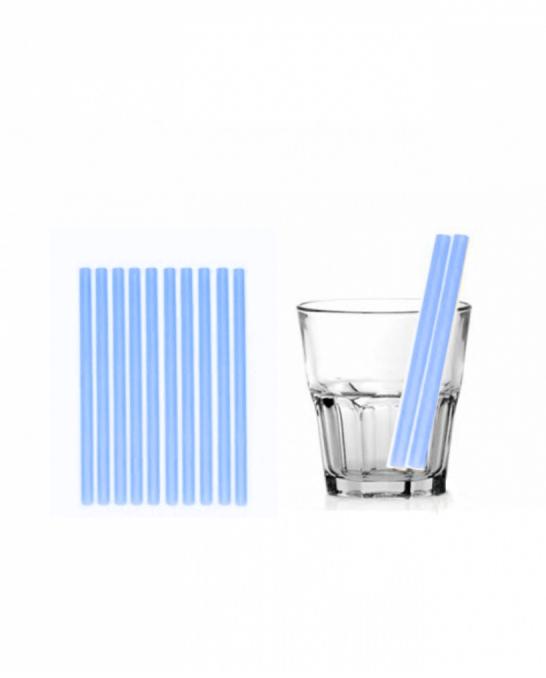 Cannucce e Tovaglioli ,Cannucce dritte colore Blu 13,5cm Conf.1000 pz