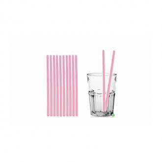 Cannucce e Tovaglioli ,Cannucce dritte colore Rosa 21cm Conf.1000 pz