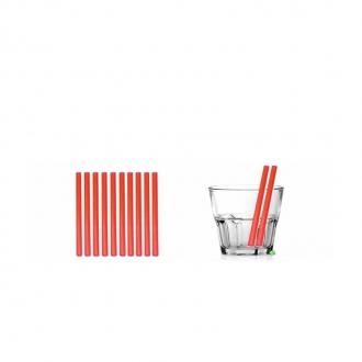 Cannucce e Tovaglioli ,Cannucce dritte colore Rosso 13,5cm Conf.1000 pz