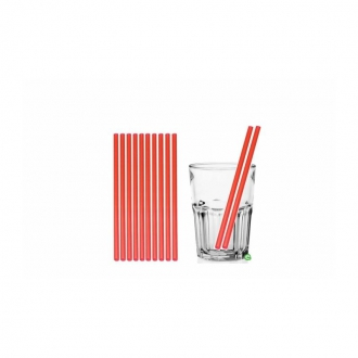 Cannucce e Tovaglioli ,Cannucce dritte colore Rosso 21cm Conf.1000 pz