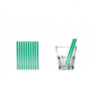 Cannucce e Tovaglioli ,Cannucce dritte colore Verde 13,5cm Conf.1000 pz