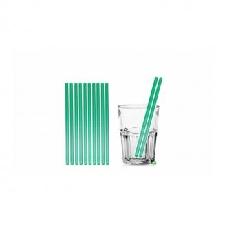 Cannucce e Tovaglioli ,Cannucce dritte colore Verde 21cm Conf.1000 pz