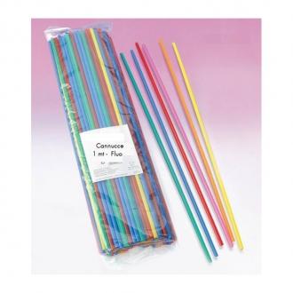 Cannucce e Tovaglioli ,Cannucce dritte colori Fluorescenti 100cm Conf.100 pz