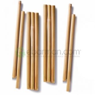 Cannucce e Tovaglioli ,Cannucce in Bamboo 20 cm Naturale Conf. 10 pz