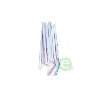 Cannucce e Tovaglioli ,Cannucce Pieghevoli imbustate 24 cm Conf.100 pz