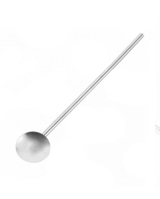 Accessori per Barman ,Cannuccia in acciaio lunga 19 cm con palettina