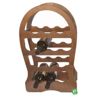 Accessori Vini & Champagne ,Cantinetta in legno chiara per vino 13 posti 37x17x62 cm