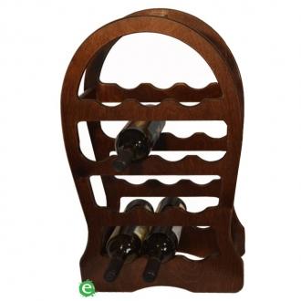 Accessori Vini & Champagne ,Cantinetta in legno scura per vino 13 posti 37x17x62 cm
